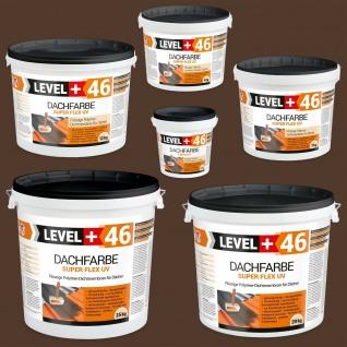 Dachfarbe BRAUN von 1, 5 bis 25kg Sockelfarbe Dachpfannenfarbe PROFI LEVEL+ RM46