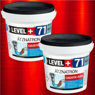 2kg Natriumhydroxid Ätznatron kaustisches Soda NaOH, LEVEL PLUS RM71