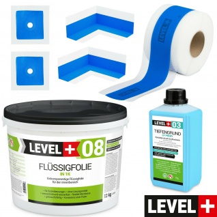 Dichtset für Duschabdichtung Duschelement Dichtband Flüssigfolie 12kg TOP SET303