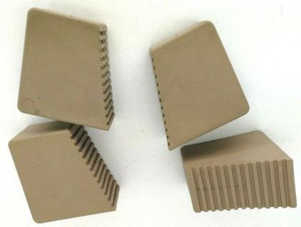 HALBAU HB41 Gummifüße für Holzstehleitern 9-12 Sproßen Sandbraun 4 Stück