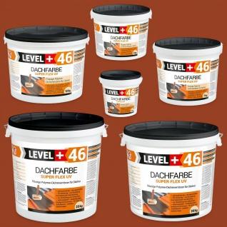 Dachfarbe Ziegelrot 1, 5-25kg Sockelfarbe flexibler Dachsanierung hochdeckendRM46