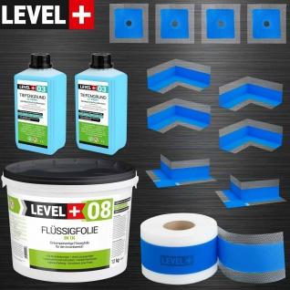 Flüssigfolie 12 kg Badabdichtung Dichtband Dichtset für Bad ca 10 m² HQ SET321