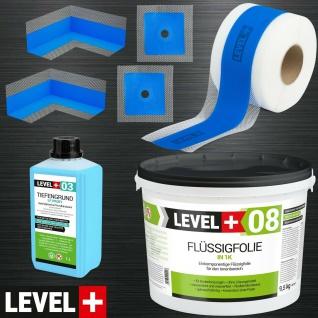 Dicht-Set Badabdichtung Flüssigfolie 9, 5kg Dusche Bandset Dichtband TOP SET323