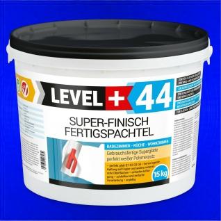 Fertigspachtel Super Finish 15 kg Spachtel Masse Glätt Q4 Flächen Bad Küche RM44