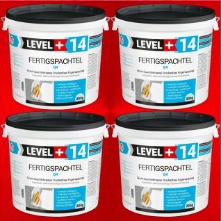 Fertigspachtel 80 Kg Gipsspachtel Glätt Flächen Spachtelmasse Q4 LEVEL+ HQ RM14