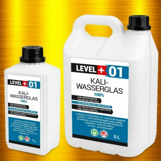 Level+ HQ 1L - 100L Kaliwasserglas Wasserglas Grundierung Wassergläser RM01