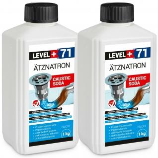 Natriumhydroxid 2 x 1kg Ätznatron kaustisches Soda NaOH Reiniger LEVEL PLUS RM71