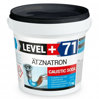 1 kg Ätznatron NaOH, Natriumhydroxid, kaustisches Soda LEVEL PLUS RM71