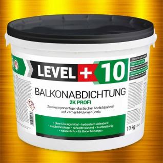 10Kg Balkonabdichtung 2K Dichtschlämme Abdichtung Balkone Terrasse Bad TOP RM10