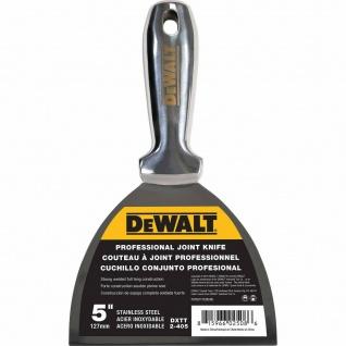 DEWALT Spachtel ganz aus Edelstahl 127mm rostfrei Malerspachtel Schaber HQ