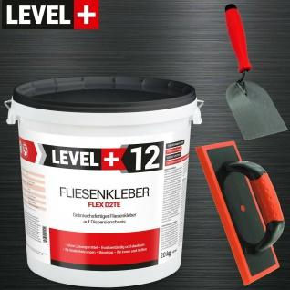 20 Kg Fliesenkleber Elastyk Set Spachtelkelle Fugbrett Steinkleber TOP SET203