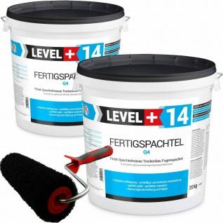 Glätt-Set Fertigspachtel 40kg + Profi Glättwalze 230mm Fugenspachtel SET210