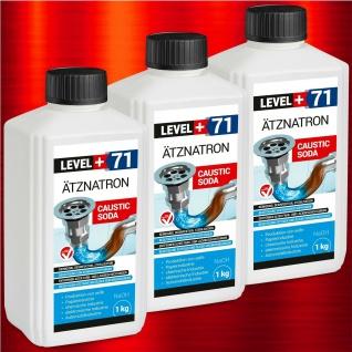 3 kg NaOH, Ätznatron, kaustisches Soda Natriumhydroxid sichere Flasche RM71