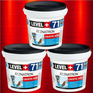 3 kg NaOH, Ätznatron, kaustisches Soda Natriumhydroxid RM71