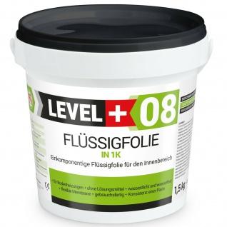 1, 5 Kg Flüssigfolie LEVEL PLUS Abdichtung Bad Dusche Küche PROFI WARE RM08