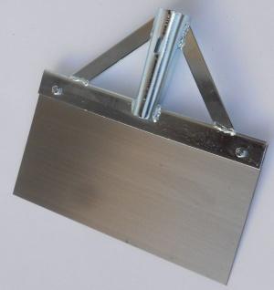 Stoßscharre aus Federstahl Eisstößer Betonschaber verzinkt 300x1, 3mm ohne Stiel