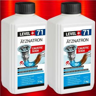 2kg Natriumhydroxid Ätznatron kaustisches Soda NaOH sichere Verpackung RM71