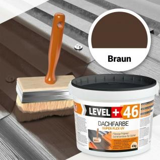 Dachfarbe 4kg flexibler Schutzanstrich Haussockel Profi Braun RM46