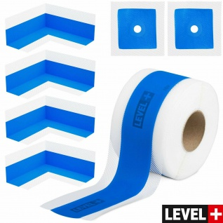 DichtSet LEVEL+ Dusche Bad, 10m Dichtband 4x Innenecken 2x Wandmanschette SETB11