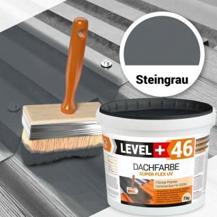 Dachfarbe 7kg Sockelfarbe SUPER FLEX Oberflächenschutz Steingrau PROFI RM46