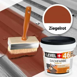 Dachfarbe 1, 5 kg flexibler Polymermembran Sockelfarbe Dachlack Ziegelrot RM46