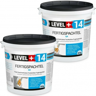 50kg Fertig Spachtel-Masse-Finish Q1-Q4 Glätt Flächen Füll Spachtelmasse HQ RM14