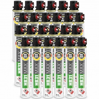 24 Stk. Gaskartuschen 80 ml 165mm (Fuel Cell) Gas Montana Gas Kartusche HB31