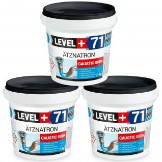 3kg Ätznatron, NaOH, Perlen kaustisches Soda Natriumhydroxid RM71