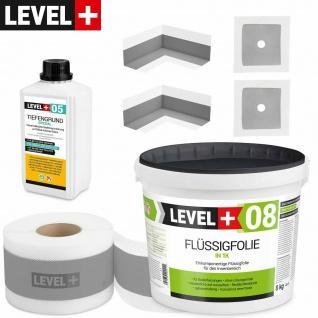 Dichtset Badabdichtung Dusche Flüssigfolie 8 kg Dichtband Tiefgrund LEVEL+ SET57