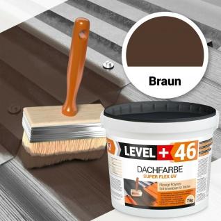 7kg flüssige Dachfarbe Braun flexibler Dachschutz Haussockel Profi RM46