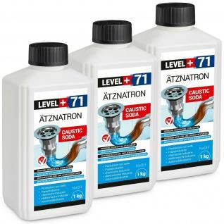 3kg Ätznatron Perlen kaustisches Soda Natriumhydroxid sichere Verpackung RM71