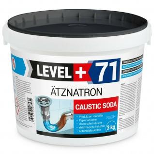 Ätznatron 3kg Natriumhydroxid NaOH Ätzsoda, Soda Rohrreiniger Level Plus RM71