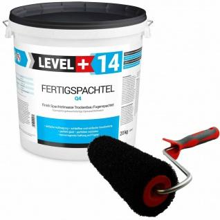 Glätt-Set Fertigspachtel 20kg + Profi Glättwalze 230mm Gipsspachtel SET209