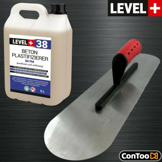 Set 5L Beton-Zusatzmittel BODENLEGERKELLE ZWEISEITIG HALBRUND Qualität SET350