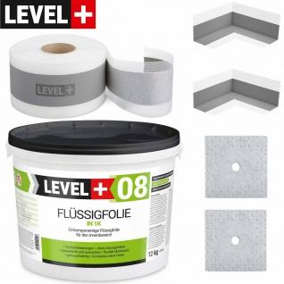 Dichtset ca 10m2 Flüssigfoli 12Kg flexibler Dichtband Badabdichtung Dusche SET18