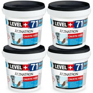 kaustisches Soda Ätznatron, 4kg Natriumhydroxid NaOH, RM71