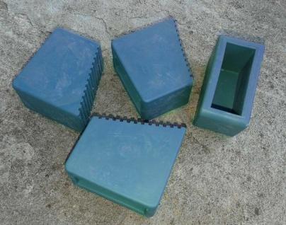 Leiterfüße Gummifüße für Holzstehleitern 3-8 Sproßen Blau 4 Stück HALBAU HB40_B4