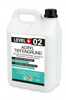 Acryl Tiefengrund 5L Grundierung UNTER FARBEN UND TAPETEN Level+ RM02
