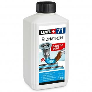 1 kg Ätznatron NaOH, Natriumhydroxid, kaustisches Soda sichere Verpackung RM71
