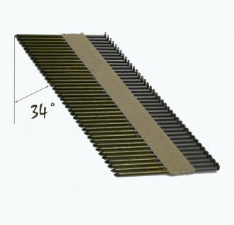 D-Kopf Streifennagel 3, 1x90mm, blank, glatt papiergebunden 4 000 Stück + Gas 4x - Vorschau 2
