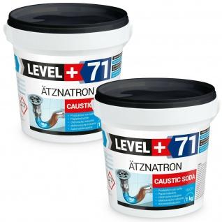 Natriumhydroxid 2 kg Ätznatron kaustisches Soda NaOH Reiniger LEVEL PLUS RM71