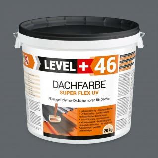 20kg Dachfarbe SUPER FLEX Sockelfarbe elastisches Polymermembran Steingrau RM46