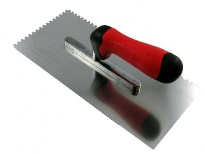 CONTOO Profi Zahnkelle 4x4mm Zahnung RF 0, 7mm Zahntraufel 280x130mm 2-K Griff