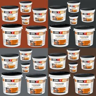 Dachfarbe 1, 5kg-25kg Sockelfarbe Steingrau Ziegelrot Anthrazit Braun LEVEL+ RM46