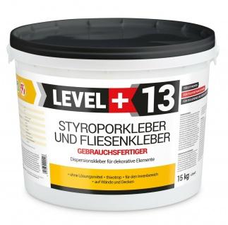 Styroporkleber 15kg Dispersionkleber Polymerbasis Weiß Flisenkleber TOP RM13