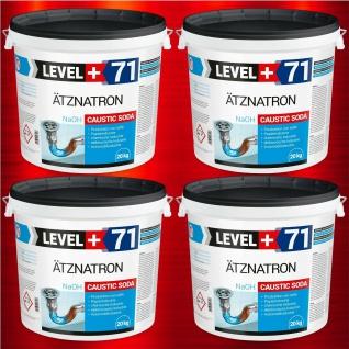 80kg Natriumhydroxid NaOH Ätznatron Ätzsoda Ätznatron Perlen 99% RM71