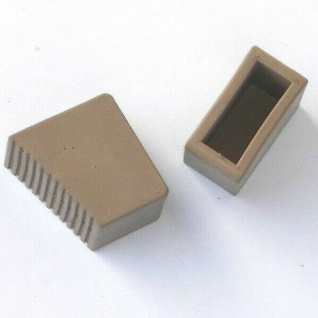 2 Stück Gummifüße für Holzstehleitern 3-8 Sproßen Sandfarben HB40 TOP