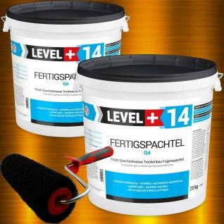 Set 40kg Fertigspachtel + Profi Glättwalze 230mm Spachtelmasse Level+ SET210