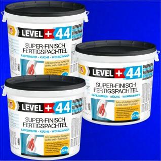 Fertigspachtel Q4 60kg Super Finish Spachtel Masse PERFEKT WEISS Bad Küche RM44