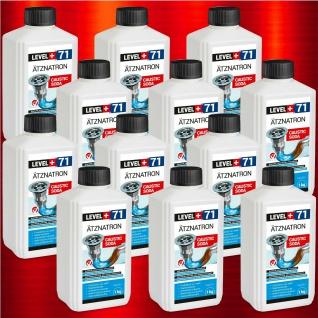 12 kg Ätznatron NaOH Caustic Soda Natriumhydroxid sichere Flasche RM71